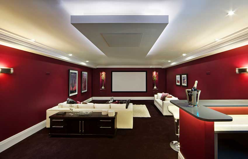 Cinema Room Using White LED Strips
