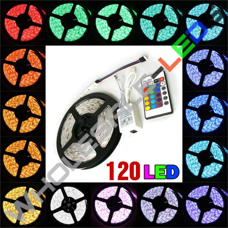 5050 Color Changing Super Bright 120 LED Light Strip Reel Kit