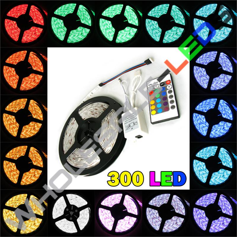 5054 Color Changing Bright 300 LED Light Strip Reel Kit