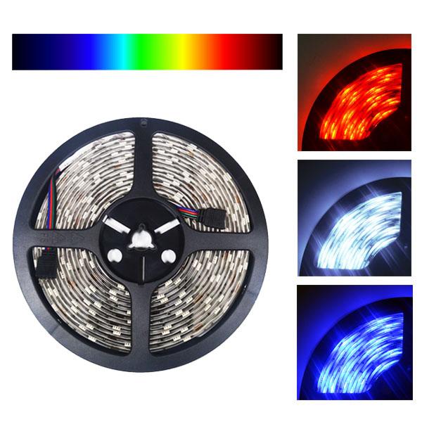 24v 5050 color changing rgb super bright led strip light 16 ft reel 150 led. Black Bedroom Furniture Sets. Home Design Ideas