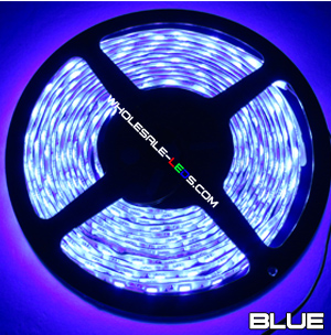 5050 Blue Super Bright LED Strip Light 16 Ft Reel 150 LED Kit