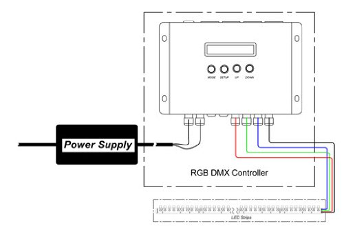 3ch high power dmx 512 controller decoder for led rgb light 12v 24v 700ma   ch