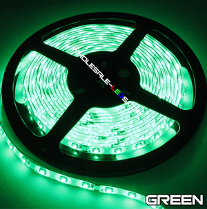 5050 Green Super Bright LED Strip Light 16 Ft Reel Kit