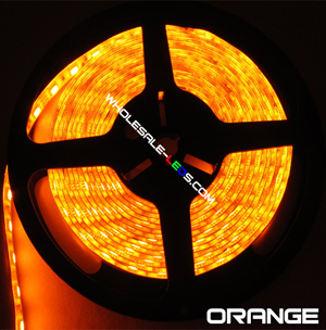 5050SMD Orange Super Bright Flexible LED Light Strip 16 Ft Reel Kit