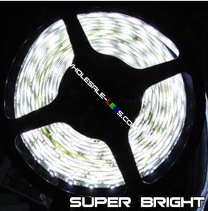 3528 Cool White Super Bright Flexible LED Light Strip Reel Kit