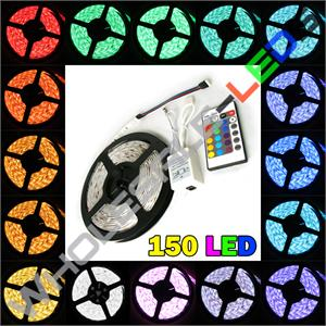 5050 Nova Bright Color Changing Super Bright 150 Strip Lights LED Reel Kit