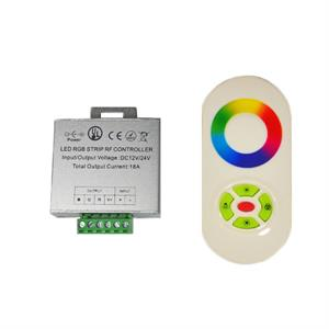 RF Wireless RGB Touch LED Remote Controller UL 18A 12V 24V