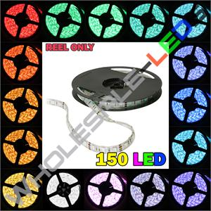 5050 Color Changing Super Bright 150 LED Light Strip Reel Kit