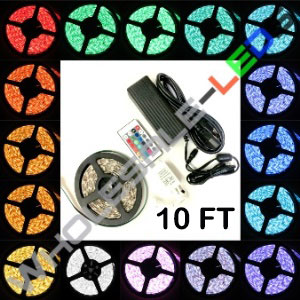5050 Color Changing Super Bright 180 LED Light Strip Reel Kit