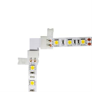 Corner Snap On Connector for Single Color LED 5050 Strips Right Angle