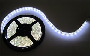 NovaBright Weatherproof 12V UL White Super Bright Flexible LED Strip Light Reel Only
