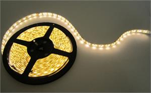 NovaBright Weatherproof 12V UL Warm White Super Bright Flexible 3000-3500K LED Strip Light Reel Only