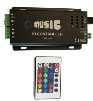 12A Music Controller for RGB LED Strip Lights MU120
