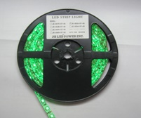 NovaBright Weatherproof 12V UL Green Super Bright Flexible LED Strip Light Reel Only